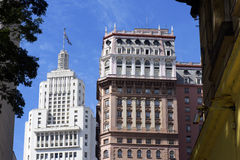 Martinelli Building and Altino Arantes Building (Banespa Buildin Royalty Free Stock Photos