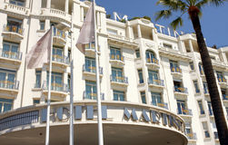 Martinez Hotel - Cannes Royalty Free Stock Photos