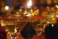 martini γυαλιού ελιά Στοκ Φωτογραφίες
