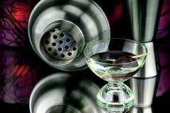 Martini και ελιά Στοκ Φωτογραφία