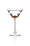 Martini με την ελιά Στοκ Εικόνες