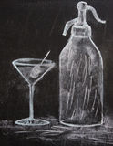 martini σχεδίων σόδα Στοκ εικόνα με δικαίωμα ελεύθερης χρήσης