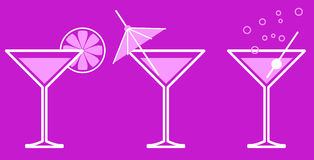 Martini. Pin-up Martini on the pink Royalty Free Stock Images