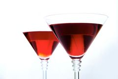 Martini. Glass with red wine on background of another bocal Stock Photo