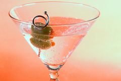 Martini. A martini with two olives in it Stock Image
