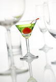 Martini. Stand out from the other glasses Royalty Free Stock Photo
