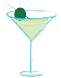Martini. With olive Royalty Free Stock Photography