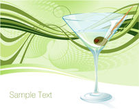 Martini. Luxury vector template with martini Royalty Free Stock Image