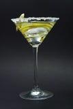 Martini avec la croûte, le citron et les peaux de sucre Photos stock