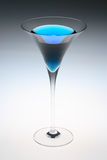 Martini azul Imagen de archivo libre de regalías