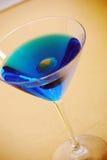 Martini azul Fotos de archivo