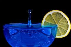 Martini azul Foto de archivo libre de regalías