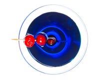 Martini azul Foto de archivo