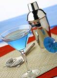 Martini azul imagenes de archivo