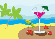 Martini on the beach Royalty Free Stock Image