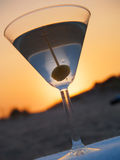 Martini On The Beach Stock Photo
