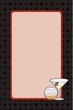 Martini bebe la invitación de la noche Foto de archivo libre de regalías