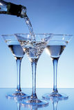 Martini being poured into a glass Royalty Free Stock Image