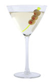 Martini Bianco avec des olives photo stock