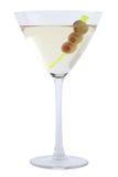 Martini Bianco con las aceitunas Foto de archivo