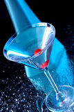 Martini bleu Photos stock