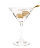 Martini with bleu chesse olives Stock Images