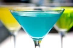 Martini blu Fotografie Stock Libere da Diritti