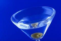 Martini on blue background Stock Photo