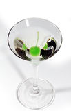 Martini with a cherry Royalty Free Stock Images