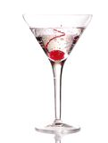 Martini with Cherry Stock Images