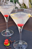 Martini cherry cocktail. Royalty Free Stock Photos