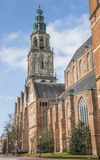 Martini church and tower in the center of Groningen Royalty Free Stock Image