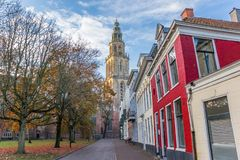 Free Martini Church Tower In The Late Afternoon Autumn In Groningen Stock Photo - 133337350