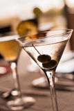 Martini. Close up of a Martini Cocktail Stock Image