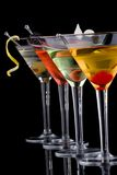 Martini clássico - a maioria de série popular dos cocktail Fotos de Stock Royalty Free