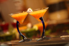 Martini Cocktail. Fresh cocktails served in the bar and restaurant Stock Photos
