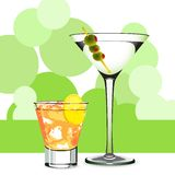 Martini and cocktail Royalty Free Stock Photography