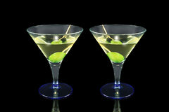 Martini cocktail. On a black background Stock Photography