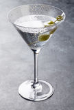 Martini cocktail. On dark stone table Stock Image
