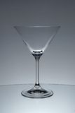Martini cocktail glass. Empty cocktail glass for Martini Royalty Free Stock Photo