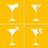 Martini cocktail glasses Royalty Free Stock Image
