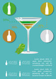 Martini cocktail infographics Royalty Free Stock Images