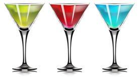 Martini, cocktail Insieme del cocktail Su fondo bianco Vecto Illustrazione Vettoriale