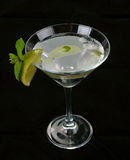 Martini cocktail with lime Stock Images