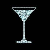 Martini cocktail made of diamonds Stock Image