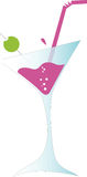 Martini cocktail with olive Royalty Free Stock Image