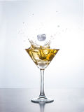 Martini or cocktail with splash Royalty Free Stock Photo