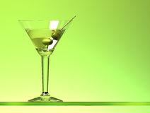 Martini cocktail with two olives Stock Photo