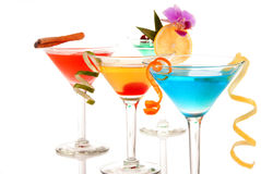 Martini cocktails composition Stock Image