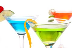 Martini Cocktails with tropical flavours Royalty Free Stock Photography